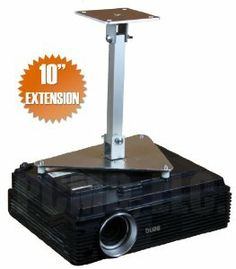 """PCMD All-Metal Projector Ceiling Mount with 10"""" Extension for Panasonic PT-CW240 by PCMD, LLC.. $76.95. Projector ceiling mounts from PCMD, LLC. offers the consumer a quality ceiling mount at closeout prices. This projector ceiling mount can be rotated 360°, and pitched and rolled in any direction. The mounting plate is CNC machined for precise fitment and made from 6061-T6 aircraft grade aluminum. Unlike universal ceiling mounts, our projector ceiling mounts ar..."""