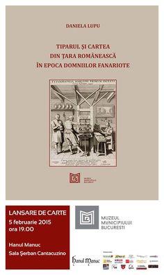 Tiparul și cartea din Țara Românească în epoca domniilor fanariote  autor Daniela Lupu