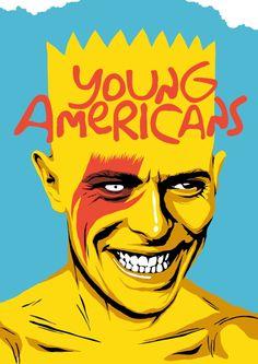 ARTIST: Butcher Billy - Young Americans Art Print  #Yellowmenace #popart   See More Pop Art + https://society6.com/yellowmenace/collection/pop-goes-art?curator=yellowmenace