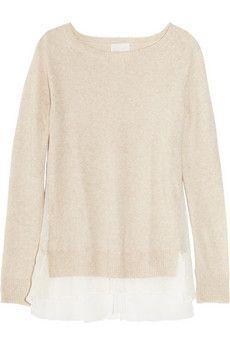 CLU   silk-trimmed knitted sweater