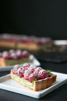 Matcha Raspberry Tart