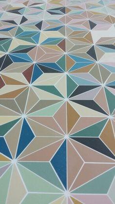 Palais des Congres de Nancy Winckelmans tile, on a small part of a wall for color and style