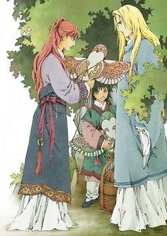 Youko, Keiki, and Keikei fromTwelve Kingdoms