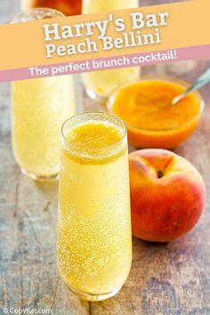 Harry's Bar Bellini is a fruity and bubbly cocktail perfect for festive occasions. Get this easy copycat recipe to make the best peach Bellini. Find out how to make peach puree to mix with champagne for this famous drink. #bellini #peachrecipe #cocktailrecipes #copycat #copycatrecipes