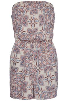 Primark High Summer 2014 Paisley Print Playsuit, £5 Read more at http://www.look.co.uk/pictures/primark-high-summer-2014-see-the-collection/primark-high-summer-2014-sporty-jumpsuit-%C2%A315#FCw4QkUaSybJ1bP9.99