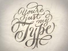 Just My Type Initial Sketch // Ken Barber