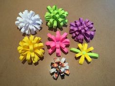 How to make Easy Paper Bows - YouTube