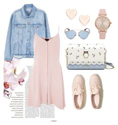 """Pink dress"" by doroshencko-daria on Polyvore featuring мода, MANGO, Topshop, Hollister Co., Ted Baker, Christian Dior и Vivani"