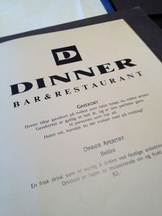 Dinner Bar and Restaurant Oslo ~ Thanks For The Food - A Blog #Oslo