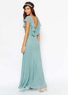 Vestido damas de honor azul