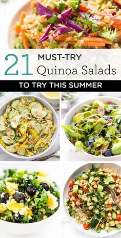 21 Quinoa Salad Recipes to Try this Summer - with gluten-free + vegan options included! #summerrecipes #summersalads #vegan #glutenfree #quinoa #quinoarecipe #quinoasalads