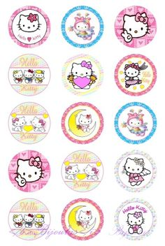 "Bottle Cap afbeeldingen ""Hello Kitty"""