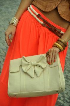 Love bows - clutch