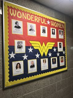 This is my board for March which is Women's History Month!