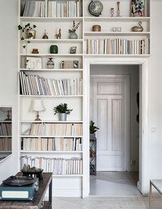 dustjacketattic:  bookshelves | swedish apartment