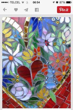 Flores en vidrio