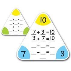 Driehoek rekenbord om het splitsen van  sommen inzichtelijk te maken. Een goede aanpak voor beelddenkers die behoefte hebben aan het totaalplaatje