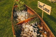 Photos that inspire us…such a cute idea for a self-service beverage station. #partyrentals #celebrations