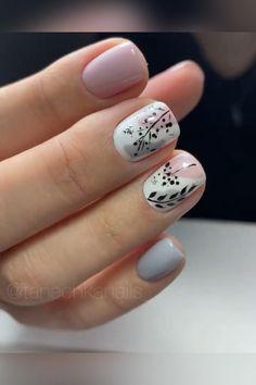 Nail Art Hacks, Nail Art Diy, Diy Nails, Diy Acrylic Nails, Floral Nail Art, Gel Nail Art, Easy Nail Art, Classy Nails, Stylish Nails