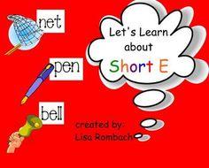 Phonics Short E SmartBoard Lesson Primary Grades (.notebook file) $