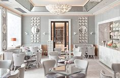 Luxury Hotel interiors| Named as a tribute to the legendary designer David Collins, the space has now been redesigned by Collins's protégé and creative director Robert Angell  |www.bocadolobo.com #interiordesignprojects #moderninteriors