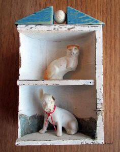 Assemblage: Dog Cat  by *bugatha1  Traditional Art / Assemblage