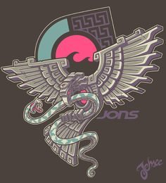 Aztec Eagle by nosredna1313 on @DeviantArt