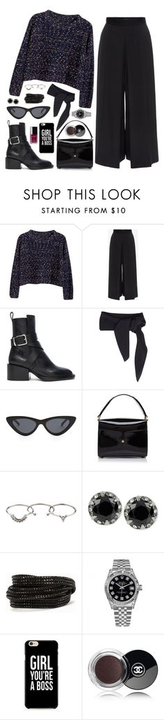 """OOTD"" by tamo-kipshidze on Polyvore featuring Chicnova Fashion, Alexander McQueen, Jil Sander, Chloé, Le Specs, Marc Jacobs, Zimmermann, Betsey Johnson, Pieces and Rolex"