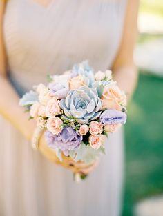 #succulent  Photography: Kristin La Voie Photography - kristinlavoiephotography.com  Read More: http://www.stylemepretty.com/little-black-book-blog/2014/11/10/elegant-murphy-auditorium-wedding/