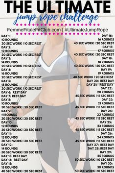 Jump Rope Challenge, Workout Challenge, Workout Schedule, Workout Routines, Body Workout At Home, At Home Workouts, Cardio Workouts, Fitness Workouts, Jump Rope Workout