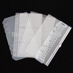 PVC recibir bolsa de almacenamiento bolso de la tarjeta para B5 A5 A6 A7spiral cuaderno de hojas sueltas diario bobina de carpetas de anillas de papel de relleno independiente planificador
