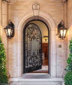Exterior Front Entry Doors Super Luxury Real E 7287 San Francisco Mansions, Wrought Iron Doors, Front Door Design, Unique Doors, Entrance Doors, Door Entryway, Doorway, Front Entry, Iron Front Door