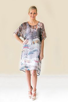 Short Sleeve Dresses, Dresses With Sleeves, Silk Dress, Spring Summer, Collections, Casual, Products, Fashion, Silk Gown