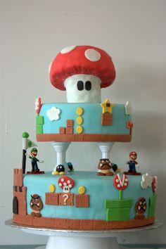 Classic Mario Is Delicious: Super Mario Bros Cake