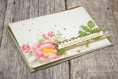 Flower colored with Blender Pens from Birthday Blooms stamp set and decorated…