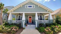 Cottage Exterior Colors, Green Exterior Paints, Exterior Color Palette, Exterior Paint Colors For House, Craftsman Cottage, Craftsman Exterior, Cottage House, Riverside Cottage, Orchid House