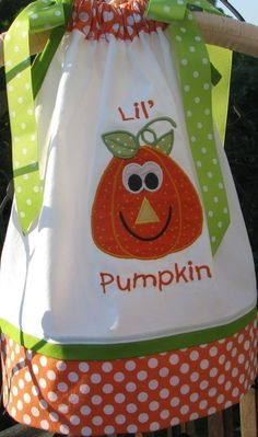 Halloween PUMPKIN Pillowcase dress by PJQuilts on Etsy