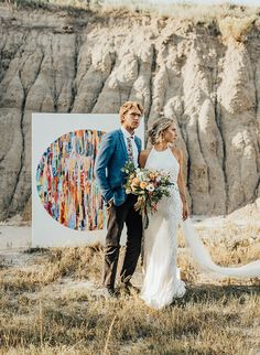 Stylish doesn't even begin to describe this bold bohemian wedding inspiration - it is so much more than that! But we'll start with stylish, because we've been drooling over these glam wedding gowns