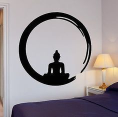 Wall Stickers Vinyl Decal Buddha Meditation Circle Enso Zen Religion (ig342)