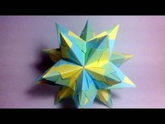 How to make the Bascetta Star (also known as Tornillo-Bascetta) Designed by Paolo Bascetta Presented here by Jo Nakashima with permission of the creator Diag...