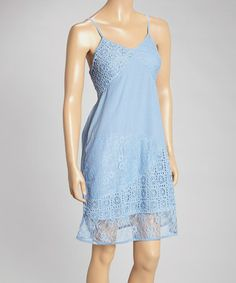 Another great find on #zulily! Blue Crochet Lace Dress #zulilyfinds