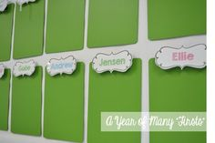 display students work with clipboards...paint and cover the ugly metal piece with a cute label....cheap and super easy