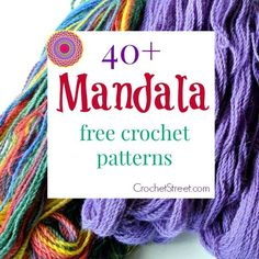 40+ Stunning Free Mandala #Crochet Patterns | CrochetStreet.com features the best crochet roundups! STOP searching and START making. #diy