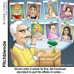 Some people get all the luck. #pitchblende #cartoons #aidanjcol #humor #funnies #texavery #audreyhepburn #jenniferanniston #marylinmonroe #kimkardashian #lucky #luckystiff #mistress