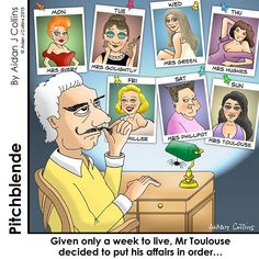 Some people get all the luck. #pitchblende #cartoons #aidanjcol #humor #funnies #texavery #audreyhepburn #jenniferanniston #marylinmonroe #kimkardashian #lucky #luckystiff #mistress