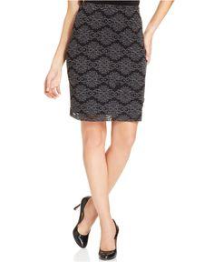 Karen Kane Filigree Pencil Skirt - Skirts - Women - Macy's