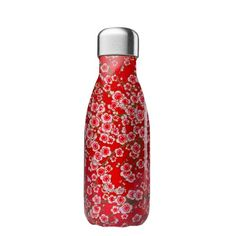 Thermosflasche Qwetch 260ml flower rot Bpa Frei, Water Bottle, Mugs, Drinks, Food Storage, Cold Drinks, Green Tee, Flasks, Stainless Steel
