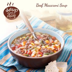 Beef Macaroni Soup Recipe from Taste of Home -- shared by Debra Baker of Greenville, North Carolina