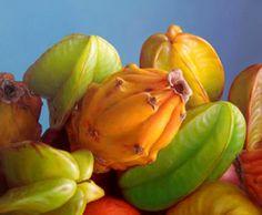 Paisajes y Bodegones: Pintura oleo: Bodegon con Frutas tropicales