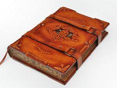 Capitain Nemo's Secret Log, Steampunk Large leather journal, antique style, 7.9x11inch (20.5x28cm).